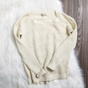 MADEWELL Ivory Bridgeview Knitted Pullover Sweater